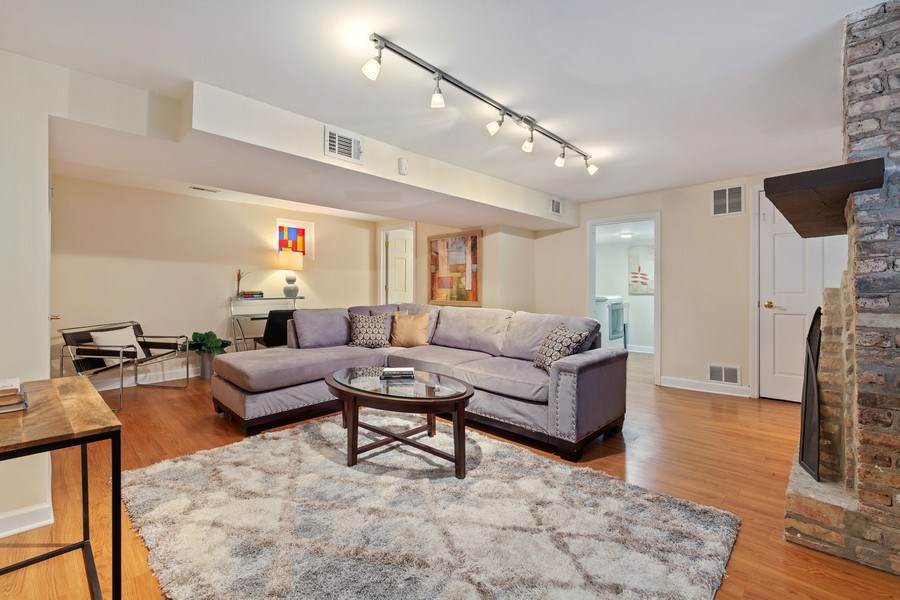 Real Estate Photography - 2826 N. Orchard Street, Chicago, IL, 60657 - Lower Level Family Room
