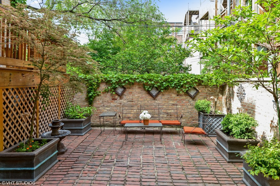 Real Estate Photography - 2826 N. Orchard Street, Chicago, IL, 60657 - Private Patio for Coach House
