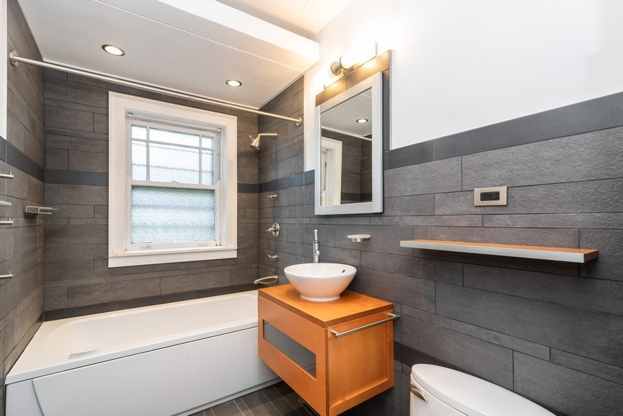 Real Estate Photography - 7729 N. Ashland, Apt 2N, Chicago, IL, 60626 - Completely updated/modern bath