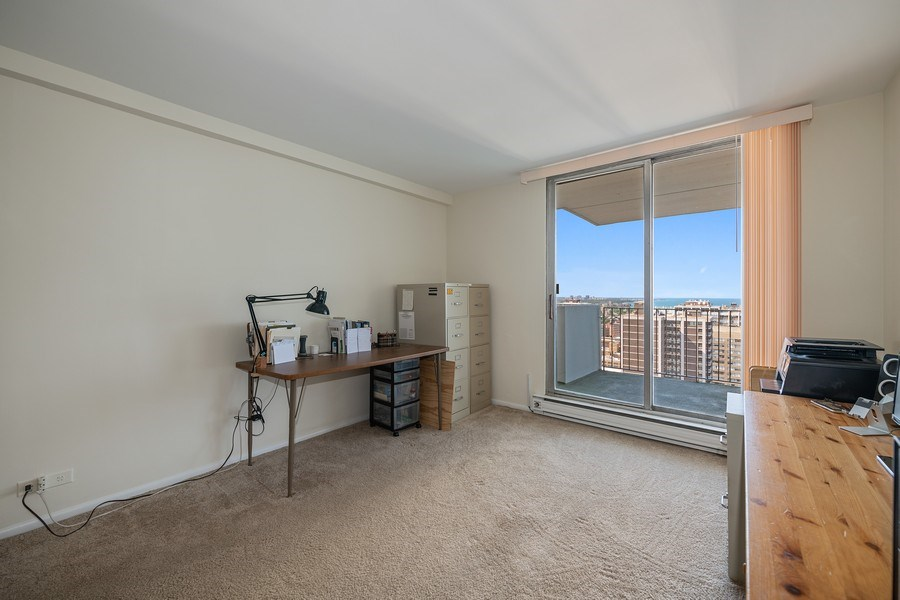 Real Estate Photography - 6033 N. Sheridan, #32D, Chicago, IL, 60660 - Second Bedroom