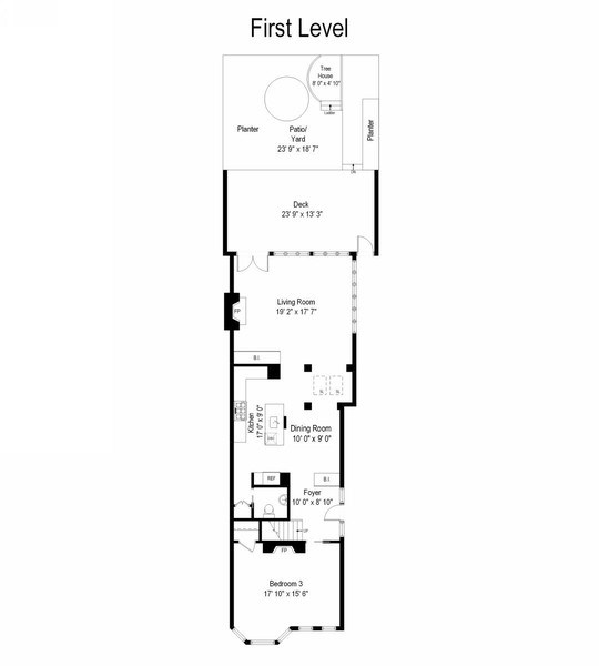 Real Estate Photography - 2237 N. Magnolia Ave., Chicago, IL, 60614 - Floor Plan