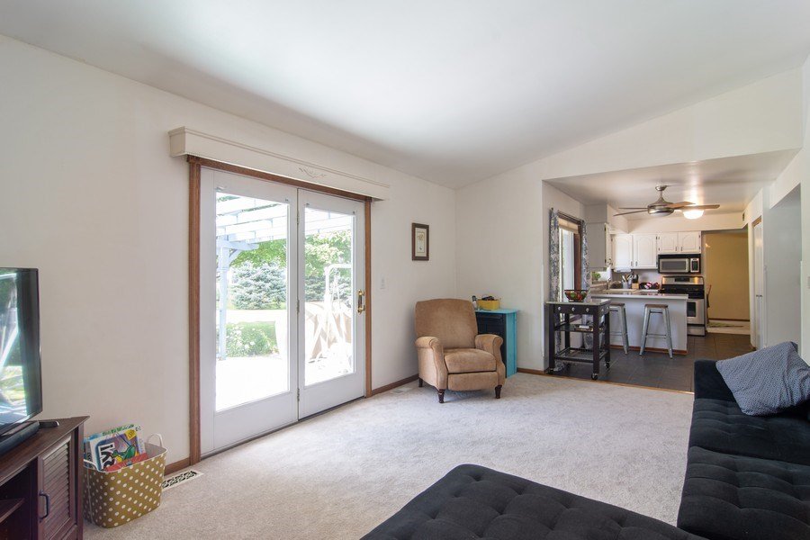 Real Estate Photography - 76 Ivanhoe Lane, Cary, IL, 60013 - Family Room / Kitchen