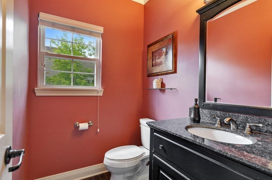 Real Estate Photography - 1448 Somerset, Mundelein, IL, 60060 - Powder Room