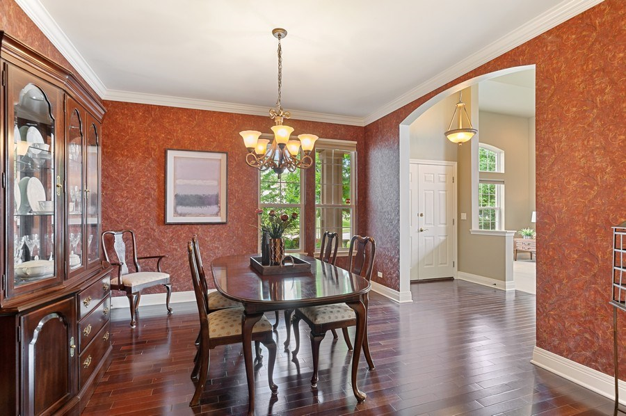 Real Estate Photography - 1448 Somerset, Mundelein, IL, 60060 - Dining Room