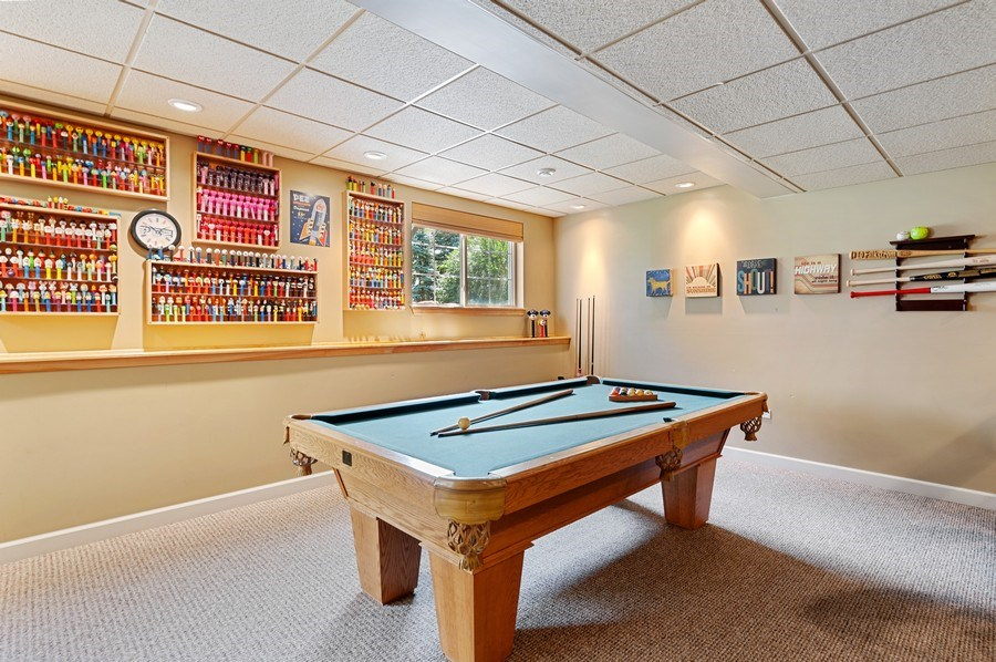 Real Estate Photography - 1448 Somerset, Mundelein, IL, 60060 - Pool Room