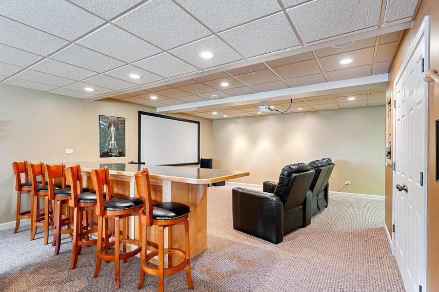 Real Estate Photography - 1448 Somerset, Mundelein, IL, 60060 - Theater