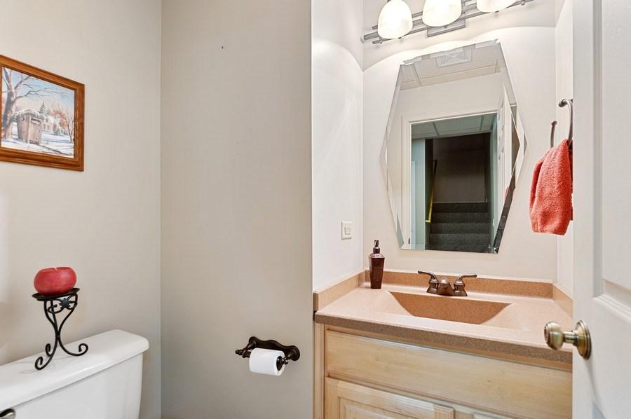 Real Estate Photography - 1448 Somerset, Mundelein, IL, 60060 - Basement Half Bath