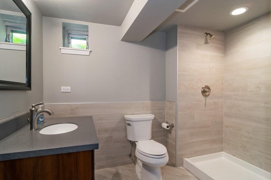 Real Estate Photography - 646 E Clarendon Ave, Arlington Heights, IL, 60004 - Basement Bathroom