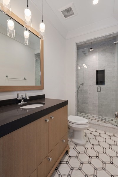 Real Estate Photography - 1942 N Mohawk, Chicago, IL, 60614 - 3rd Bathroom