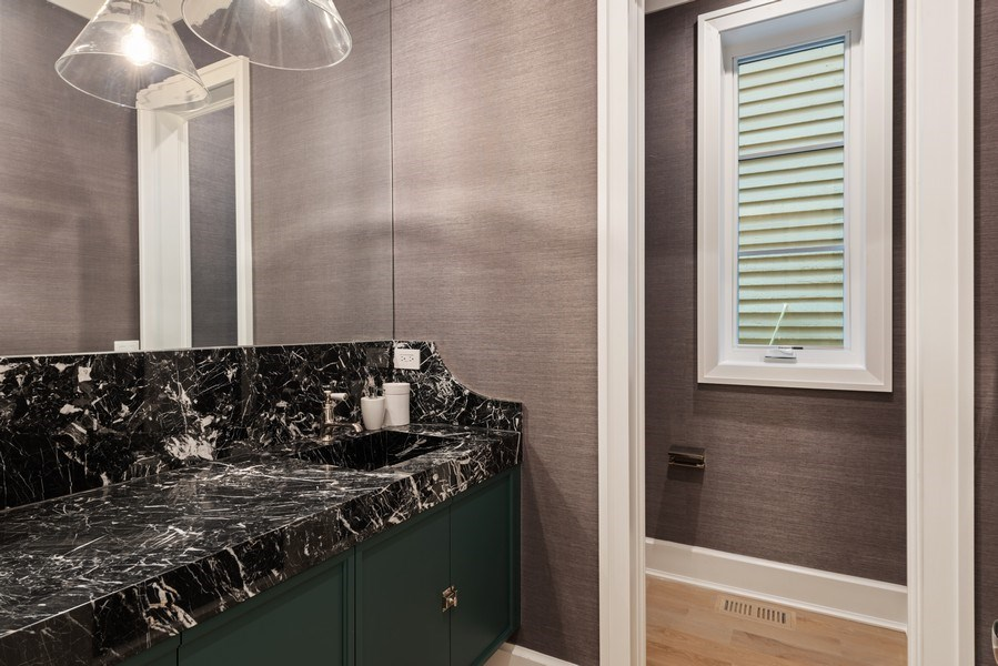Real Estate Photography - 1942 N Mohawk, Chicago, IL, 60614 - Powder Room