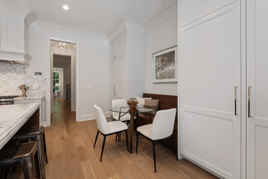 Real Estate Photography - 1942 N Mohawk, Chicago, IL, 60614 - Breakfast Nook