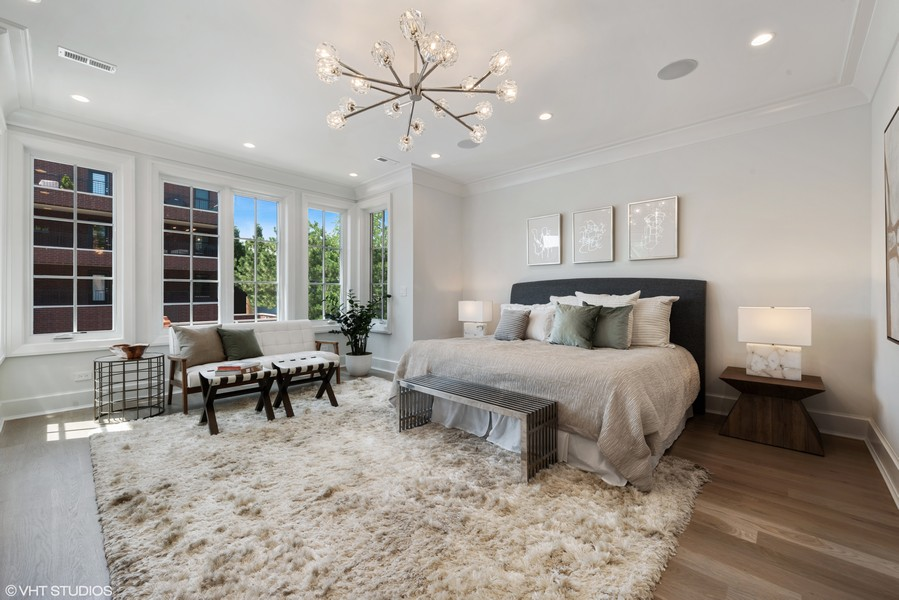 Real Estate Photography - 1942 N Mohawk, Chicago, IL, 60614 - Master Bedroom
