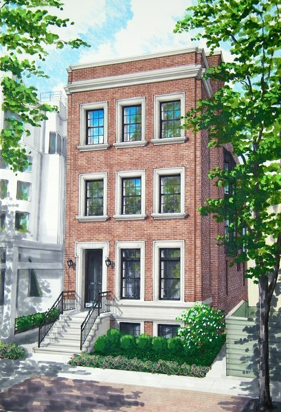 Real Estate Photography - 1942 N Mohawk, Chicago, IL, 60614 - Exterior Rendering