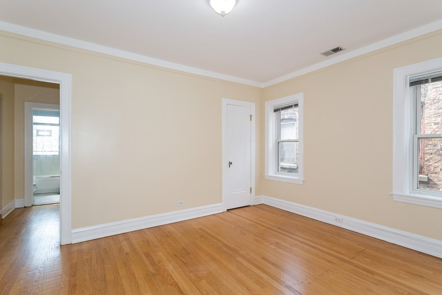 Real Estate Photography - 6014 N Francisco, Unit 3, Chicago, IL, 60659 - Bedroom