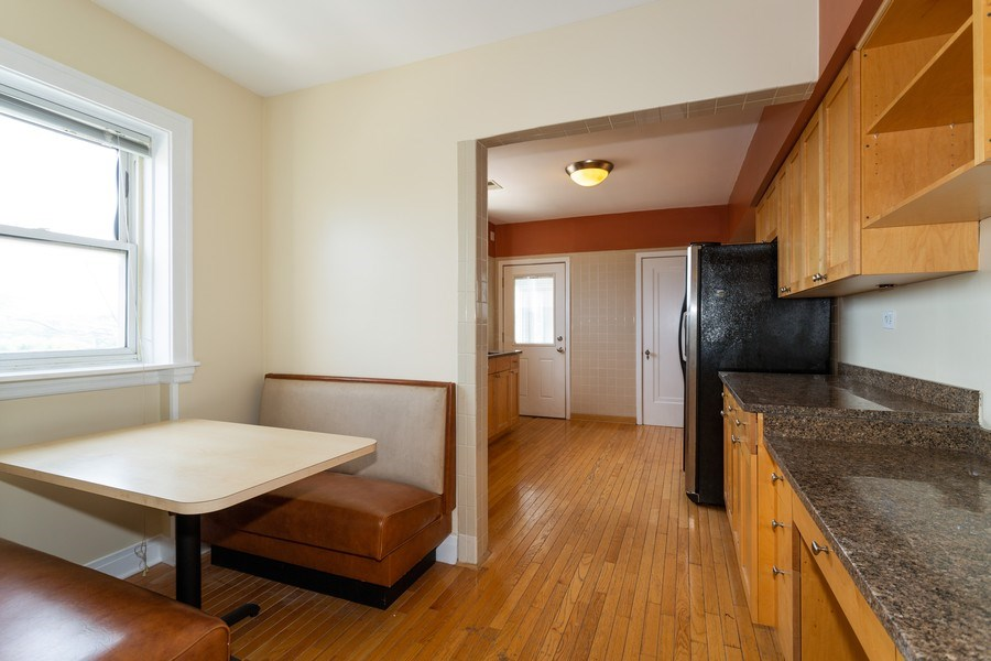 Real Estate Photography - 6014 N Francisco, Unit 3, Chicago, IL, 60659 - Kitchen / Breakfast Room
