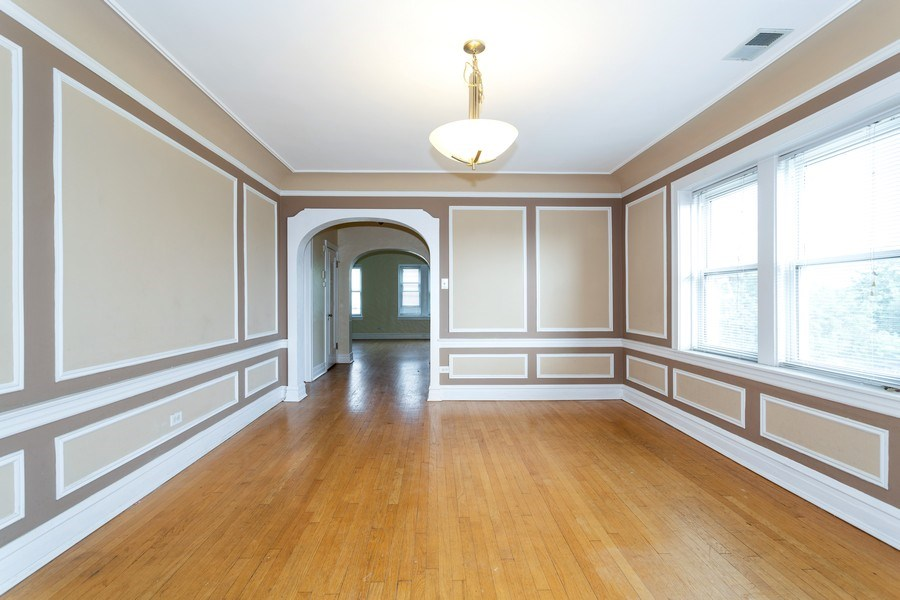 Real Estate Photography - 6014 N Francisco, Unit 3, Chicago, IL, 60659 - Dining Room