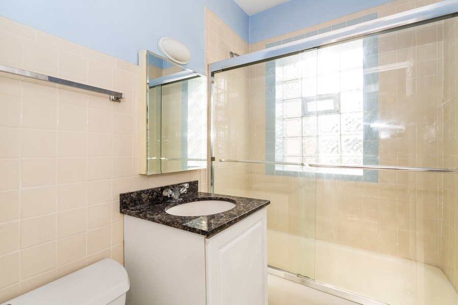 Real Estate Photography - 6014 N Francisco, Unit 3, Chicago, IL, 60659 - Bathroom