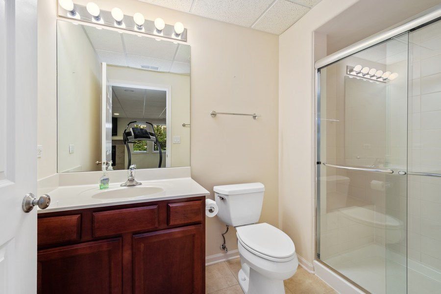Real Estate Photography - 1587 S Paul Le Comte Ct, Unit C, Palatine, IL, 60067 - Lower Level Full Bathroom
