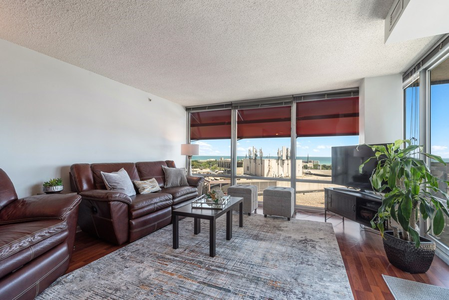 Real Estate Photography - 800 Elgin Rd, 1519, Evanston, IL, 60201 - Living Room