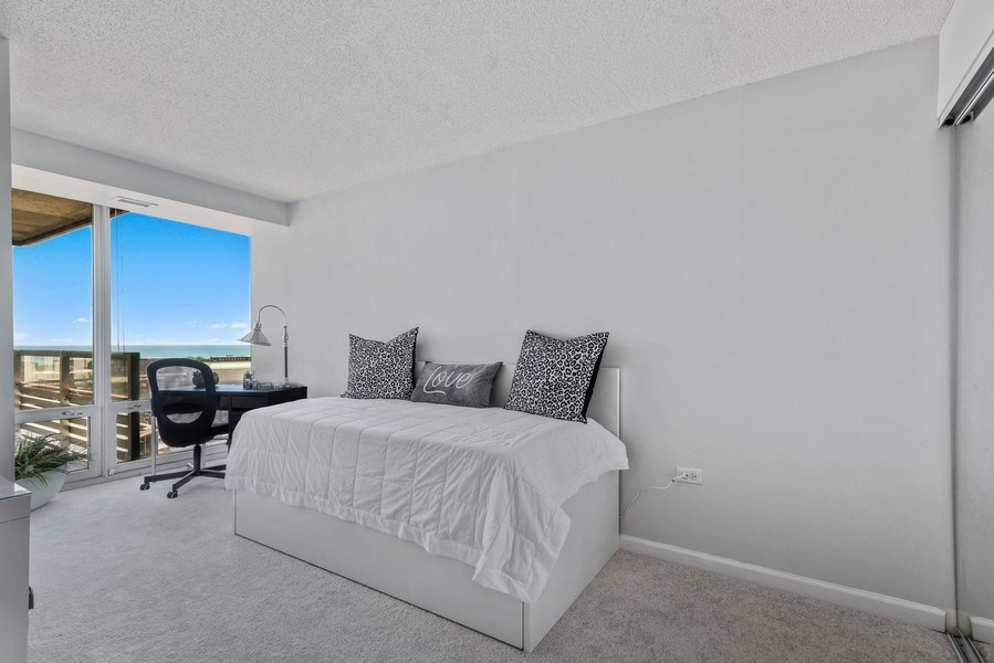Real Estate Photography - 800 Elgin Rd, 1519, Evanston, IL, 60201 - 2nd Bedroom