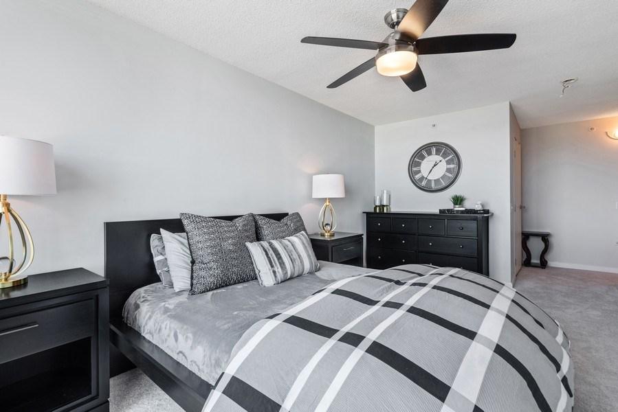 Real Estate Photography - 800 Elgin Rd, 1519, Evanston, IL, 60201 - Master Bedroom
