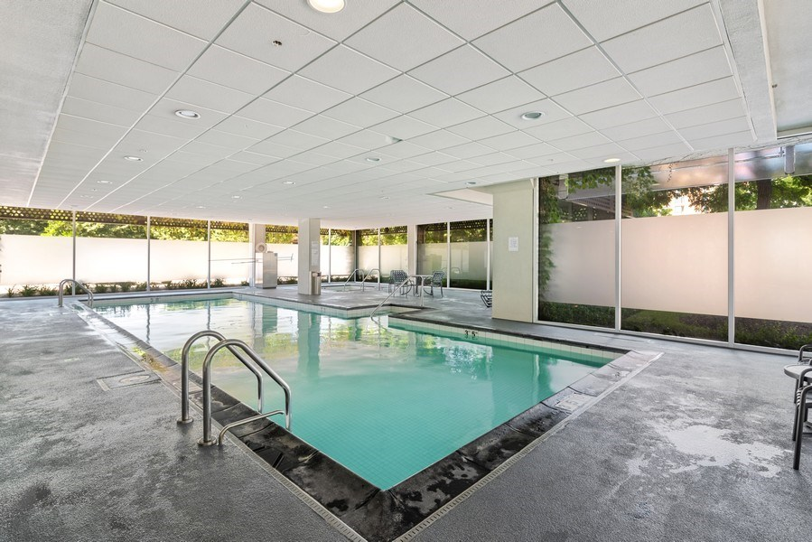 Real Estate Photography - 800 Elgin Rd, 1519, Evanston, IL, 60201 - Pool