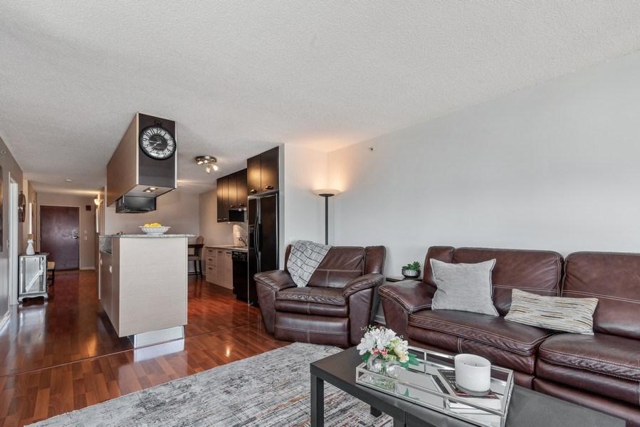 Real Estate Photography - 800 Elgin Rd, 1519, Evanston, IL, 60201 - Kitchen / Living Room