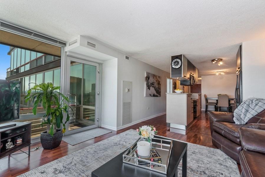 Real Estate Photography - 800 Elgin Rd, 1519, Evanston, IL, 60201 - Kitchen/Living