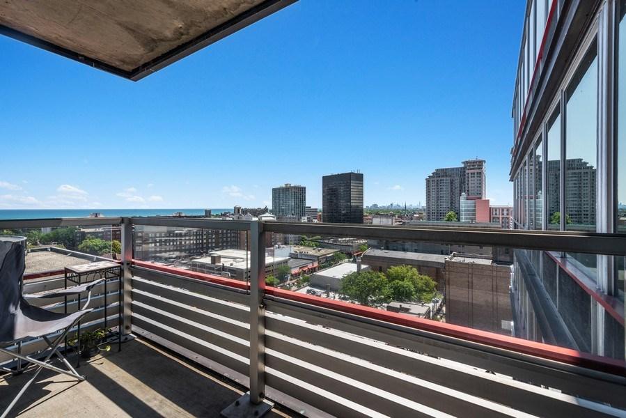 Real Estate Photography - 800 Elgin Rd, 1519, Evanston, IL, 60201 - Balcony