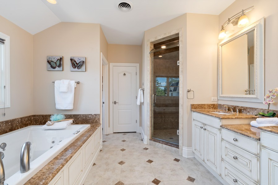Real Estate Photography - 1784 Central Road, Glenview, IL, 60025 - Master Bathroom