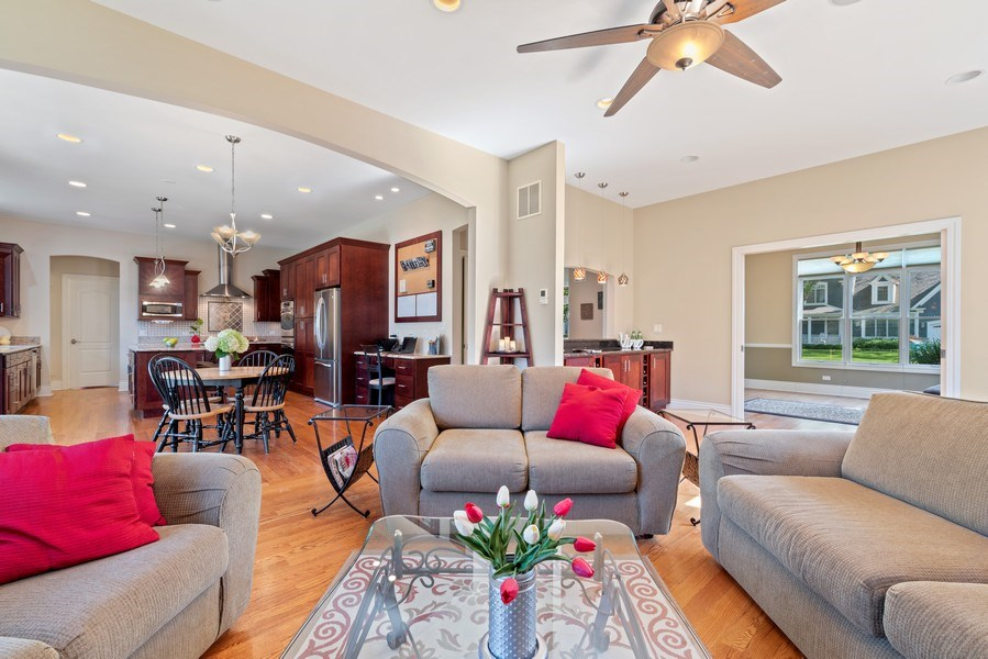 Real Estate Photography - 1784 Central Road, Glenview, IL, 60025 - Living Room / Dining Room
