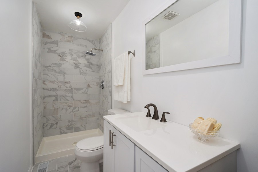 Real Estate Photography - 445 S Highland Ave, Arlington Heights, IL, 60005 - 3rd Bathroom
