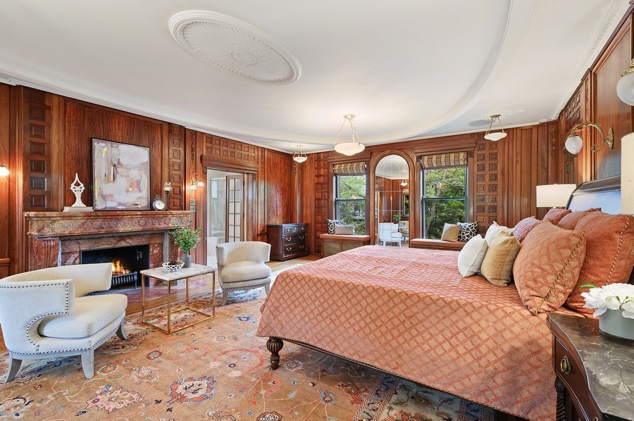 Real Estate Photography - 1225 Sheridan Rd, Evanston, IL, 60202 - Luxurious Master Bedroom Suite