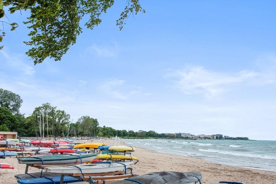 Real Estate Photography - 1225 Sheridan Rd, Evanston, IL, 60202 - Lake Michigan Beach/Boat Launch