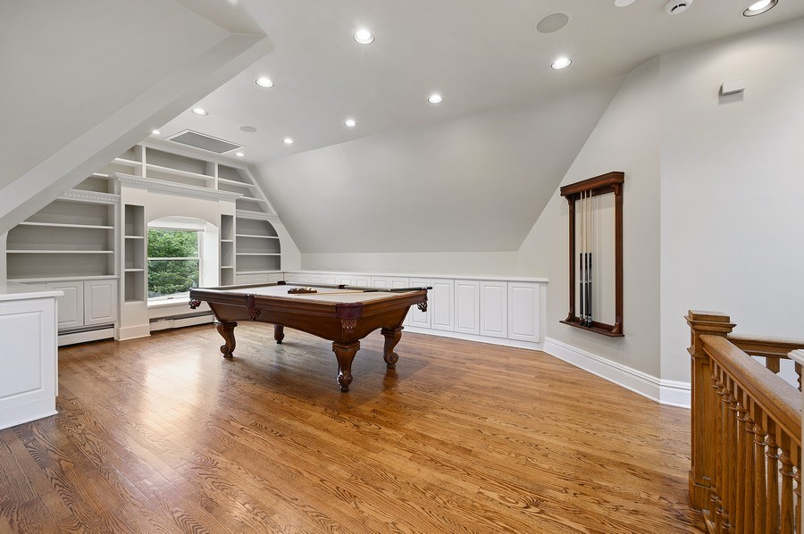 Real Estate Photography - 1225 Sheridan Rd, Evanston, IL, 60202 - 3rd Floor Rec/Room/Game Room