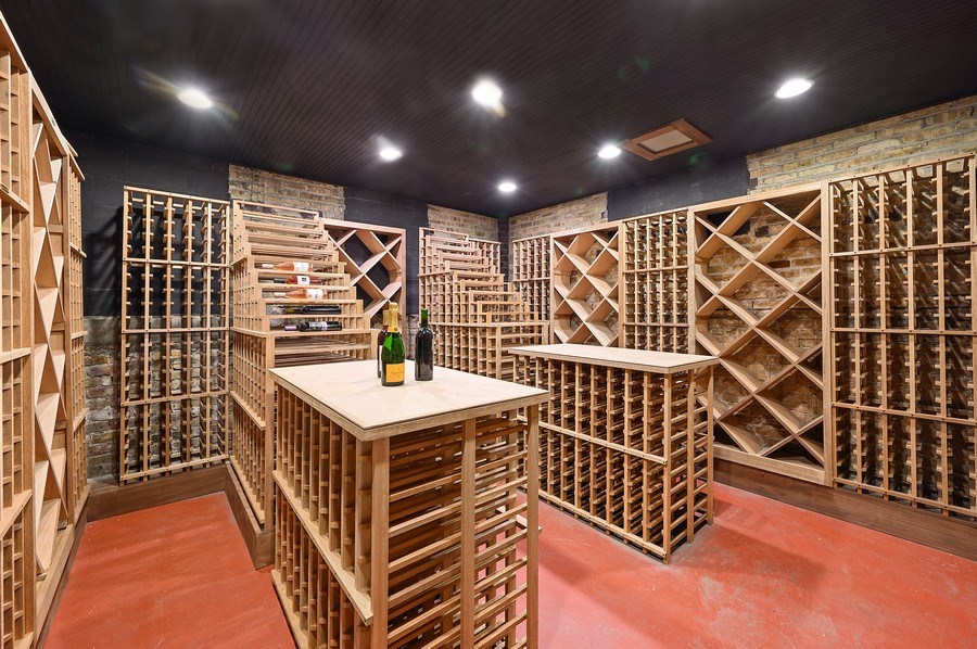 Real Estate Photography - 1225 Sheridan Rd, Evanston, IL, 60202 - 500 Bottle plus Humidity Controlled Wine Cellar