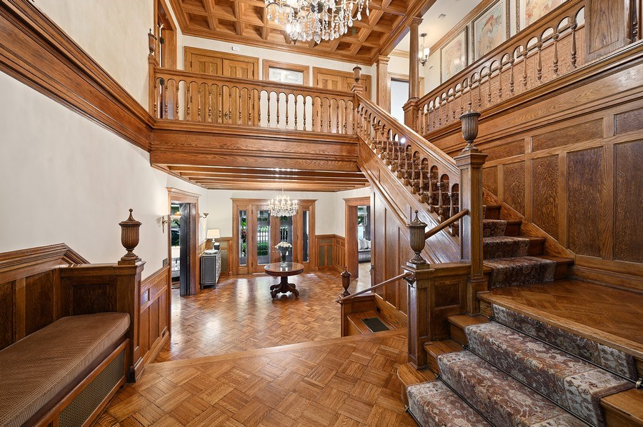 Real Estate Photography - 1225 Sheridan Rd, Evanston, IL, 60202 - Staircase Foyer