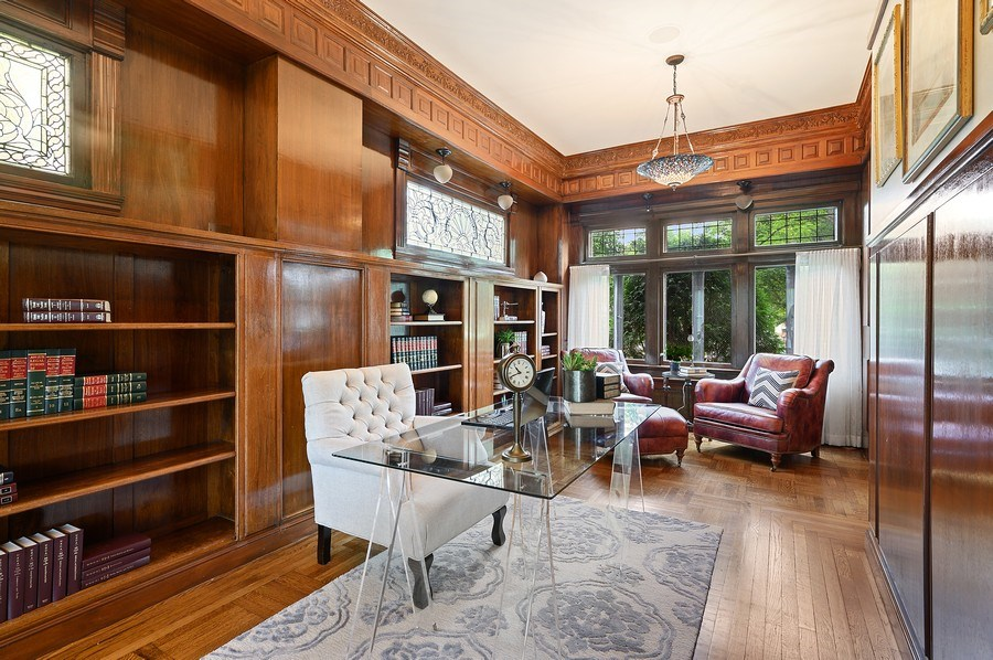 Real Estate Photography - 1225 Sheridan Rd, Evanston, IL, 60202 - Den/Office