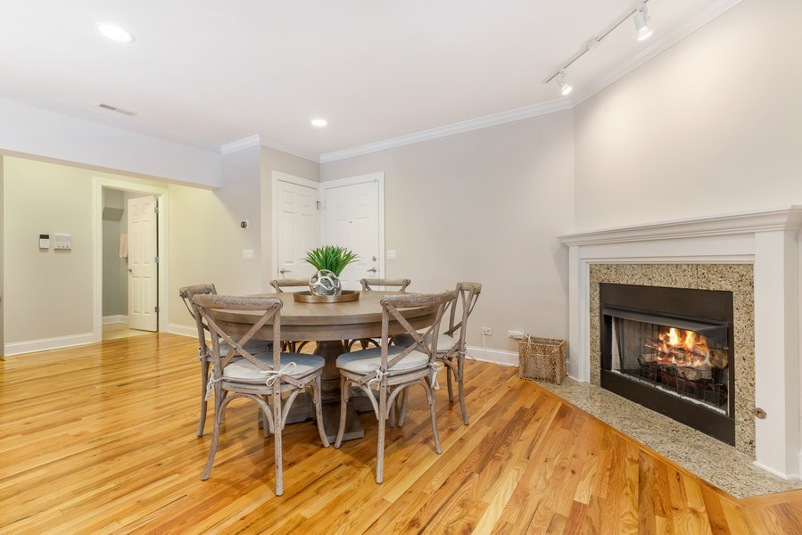 Real Estate Photography - 830 W Bradley Pl, Unit 1S, Chicago, IL, 60613 - Dining Room