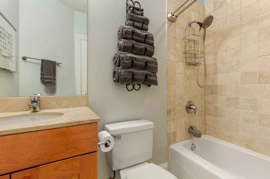 Real Estate Photography - 830 W Bradley Pl, Unit 1S, Chicago, IL, 60613 - Bathroom