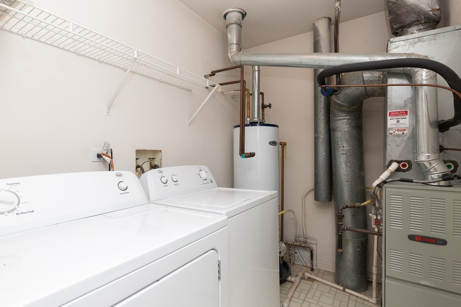 Real Estate Photography - 137 Polaris, Lake in the Hills, IL, 60156 - Laundry Room