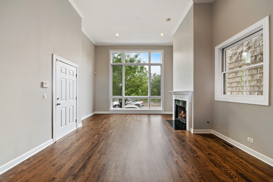Real Estate Photography - 620 N May St, 1A, Chicago, IL, 60642 - Living Room