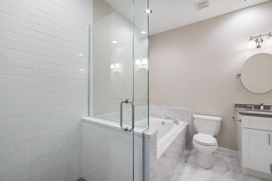 Real Estate Photography - 620 N May St, 1A, Chicago, IL, 60642 - Master Bathroom