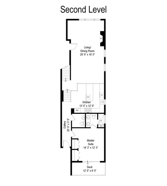 Real Estate Photography - 620 N May St, 1A, Chicago, IL, 60642 - Floor Plan