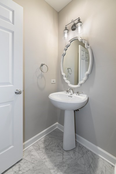 Real Estate Photography - 620 N May St, 1A, Chicago, IL, 60642 - Half Bath