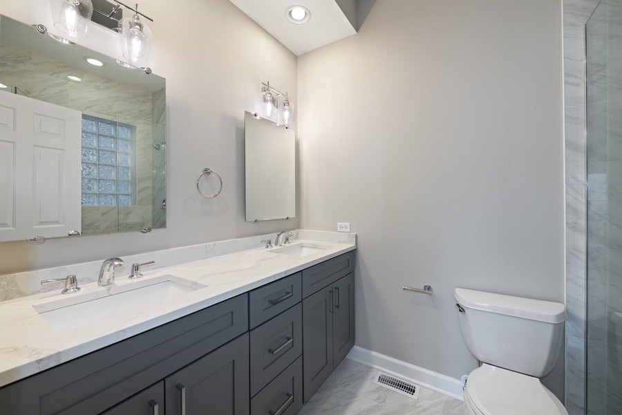 Real Estate Photography - 620 N May St, 1A, Chicago, IL, 60642 - 2nd Bathroom