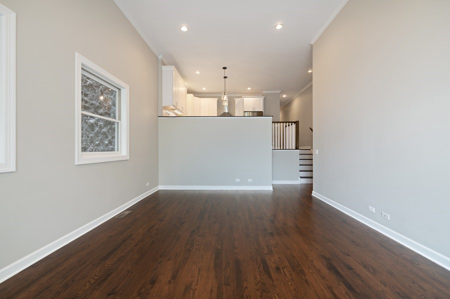 Real Estate Photography - 620 N May St, 1A, Chicago, IL, 60642 - Living Room / Dining Room