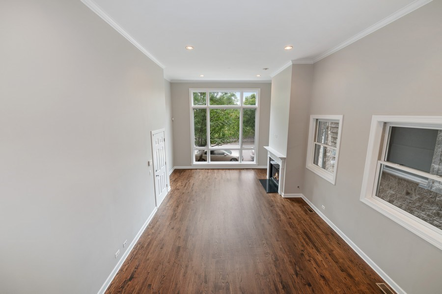 Real Estate Photography - 620 N May St, 1A, Chicago, IL, 60642 - Living Room/Dining Room