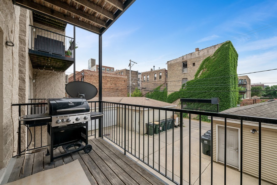 Real Estate Photography - 620 N May St, 1A, Chicago, IL, 60642 - Balcony