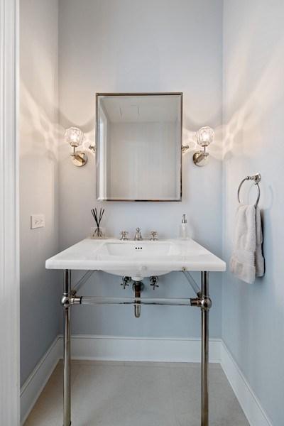 Real Estate Photography - 118 E. Erie, #20C, Chicago, IL, 60611 - Half Bath